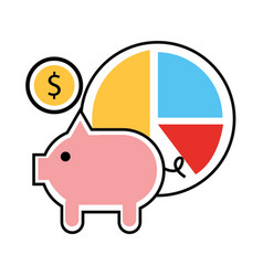 financial business set icons vector image