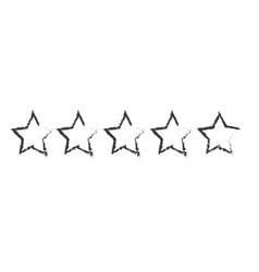 five stars icon image vector image