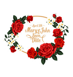 Flowers for save the date wedding design vector
