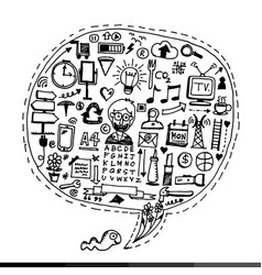 Freehand drawing business doodles design vector