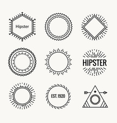 geometric hipster vintage logo shape icon hipster vector image