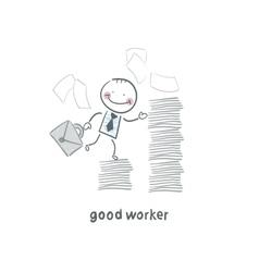 good worker vector image