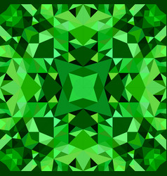 Green abstract seamless triangle mosaic tile vector