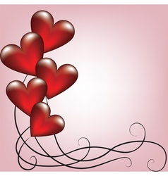 Greeting valentines card with balloons vector image