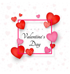 Happy valentines day greeting card or invitation vector