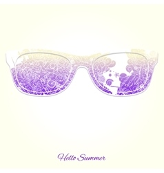 Hello summer sunglasses design vector image