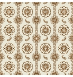 Henna floral seamless pattern vector
