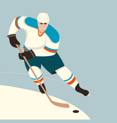 hockey player flat style vector image