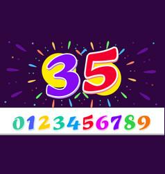 horizontal banner happy birthday bright template vector image