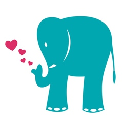 image of an elephant and heart vector image