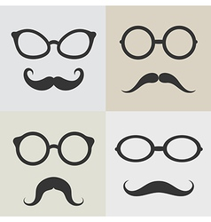 images glasses and mustaches vector image