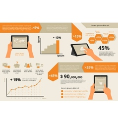 Infographic visualization usability tablet pc vector