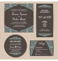 Invitation set dark vector