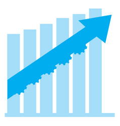 isolated financial chart vector image