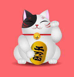 japanese beckoning cat maneki neko vector image