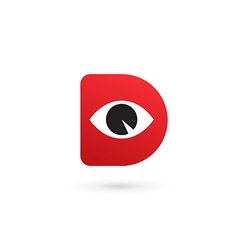 Letter D eye logo icon design template elements vector image