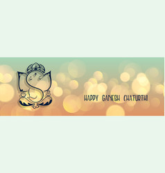 lovely lord ganesha design banner for ganesh vector image