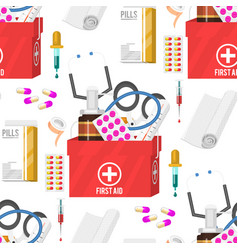medical instruments doctor tools medicament vector image