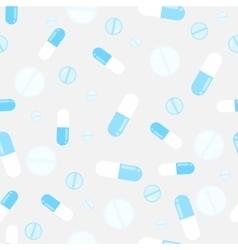 Medicine pills seamless pattern Pills vector image