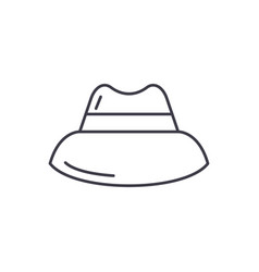 mens hat line icon concept mens hat linear vector image