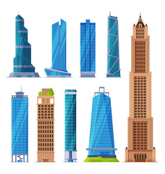 modern city business or residential buildings vector image