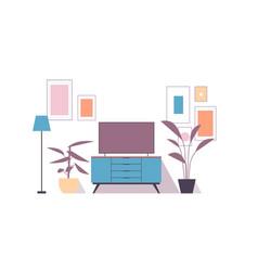Modern living room interior isolated on white vector