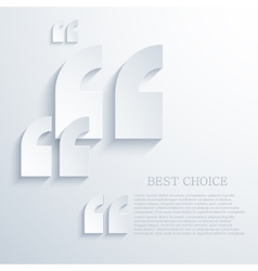modern quote icons background vector image