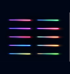 neon lights tubes set glowing lines collection vector image
