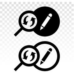 Past edit editing history - flat icon vector