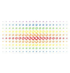 pie chart spectrum halftone array vector image