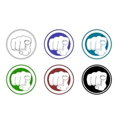 Pointing fingers icons set vector image