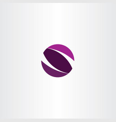 purple s logo letter circle sign symbol vector image