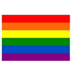 Rainbow flag movement lgbt flat icon symbol of vector