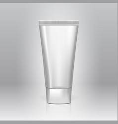 realistic 3d clear glossy tube of cream vector image