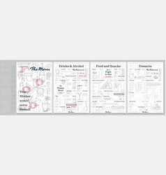 restaurant or cafe menu vintage design template vector image