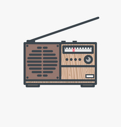 retro fm radio receiver vector image