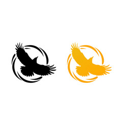 round logos with raven vector image