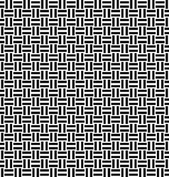 Seamless black and white line pattern vector