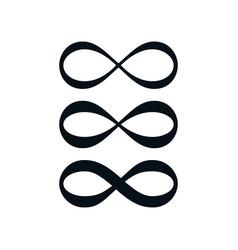 Simple infinity symbol set vector