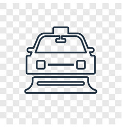 Snowplow concept linear icon isolated on vector
