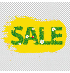 summer sale banner blots for design vector image