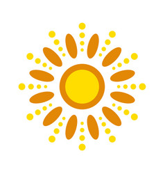 Sun icon isolated vector