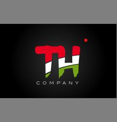 Th t h alphabet letter logo combination icon vector