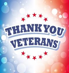 Thank you veterans banner vector