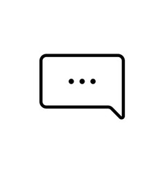 Thin line chat speech comment chatting icon vector