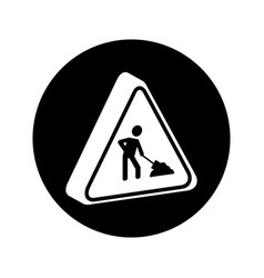 Triangle caution signal icon vector
