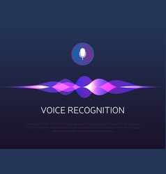 Voice recognition sound waves and microphone vector