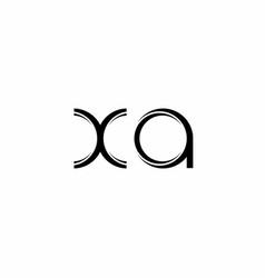 Xa logo monogram with slice rounded modern design vector