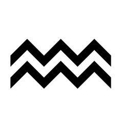 Zigzag symbol typical egyptian assyrian vector