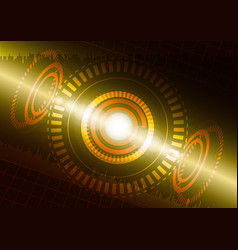 abstract digital technology color background vector image